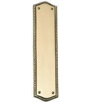 Brass Accents Trafalgar Push Plate (Oval Rope)