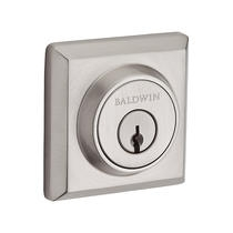 Baldwin Reserve Traditional Square Deadbolt (TSD) shown in Satin Nickel (150)