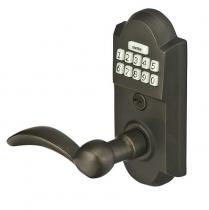 Emtek E2001 Sandcast Bronze Keypad Leverset w/Durango Lever Medium Bronze (MB)