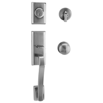 Weslock Traditionale 1600 Moderne Handleset with Impresa Knob Satin Nickel