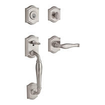 Baldwin Reserve Westcliff Handleset shown in Satin Nickel (150)