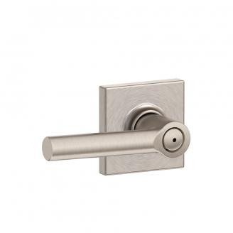 Schlage F40-BRW-COL Broadway Privacy Door Lever Set with Collins Rose