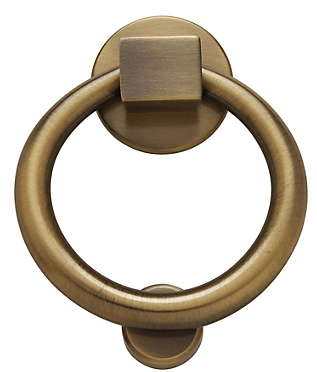 Baldwin 0195 Ring Knocker in Satin Brass & Black (050)