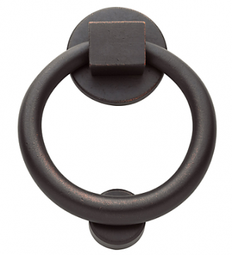 Baldwin 0195 Ring Knocker in Distressed Distressed Venetian Bronze (412)