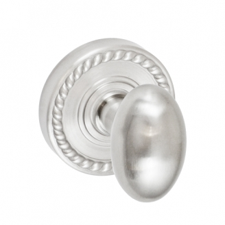 Fusion Egg Door Knob 02 with Rope Rose Brushed Nickel (BRN)