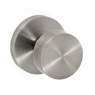 Fusion Tubular Stainless Steel 2050 Knob with Contemporary Rose PSS