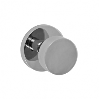 Fusion Tubular Stainless Steel 2050 Door Knob with Contemporary Rose BSS