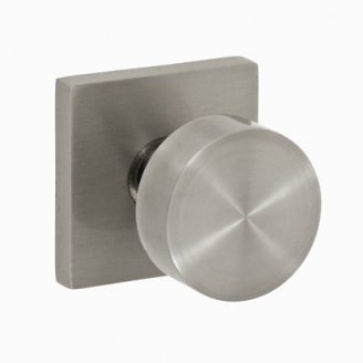 Fusion Tubular Stainless Steel 2050 Knob with Square Rose BSS