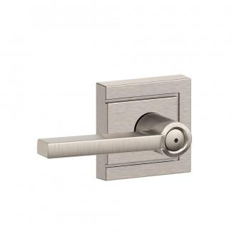 Schlage F40-LAT-ULD Latitude Privacy Door Lever Set with Upland Rose