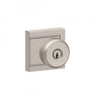 Schlage F51A-BWE-ULD Bowery Keyed Entry DoorKnob Set with Upland Rose