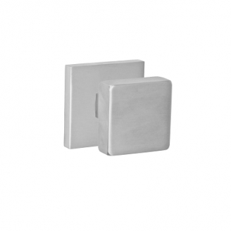Fusion Stainless Steel 2040 Door Knob with Square Rose Brushed Stainless Steel