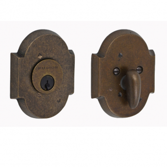 Fusion Sandcast Bronze Small Scalloped Deadbolt 100-A3-MXB