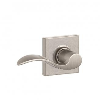 Schlage F10-ACC-COL Accent Passage Door Lever Set with Collins Rose