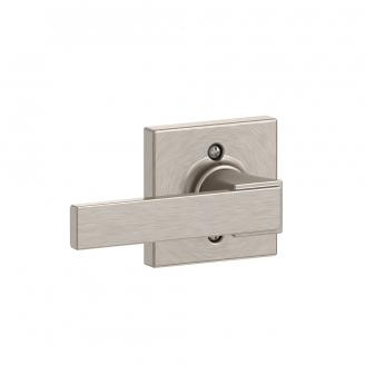 Schlage F170-NBK-COL Northbrook Single Dummy Door Lever with Collins Rose