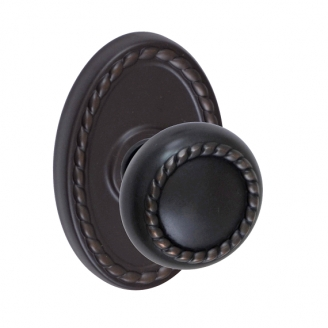 Fusion Rope Knob 14 with Oval Rope Rose Oil Rubbed Bronze