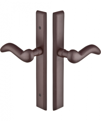 Emtek 1652 Configuration #6 SandCast Bronze RECTANGULAR Style Multi-Point Trim f