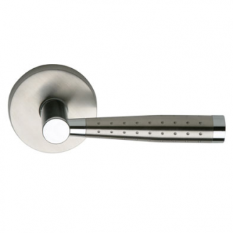 Omnia 19 Stainless Steel Door Lever Latchset Brushed Stainless Steel (US32D)