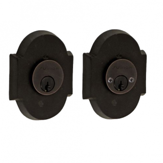 Fusion Sandcast Bronze Small Scalloped Deadbolt 200-A3-DKB