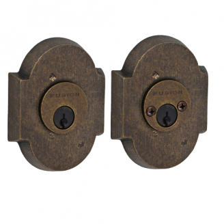 Fusion Sandcast Bronze Small Scalloped Deadbolt 200-A3-MXB