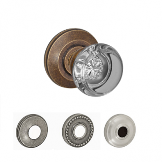 Fusion Elite Flat Iron Glass Door Knob 29 with all Rose Options