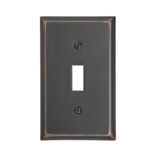Emtek 29111 Colonial Toggle 1 Switchplate Oil Rubbed Bronze (US10B)
