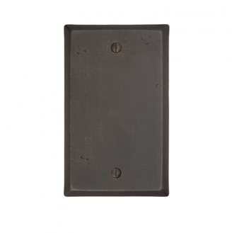 Emtek 29151 Rustic Blank Plate Medium Bronze Patina (MB)