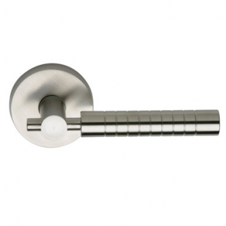 Omnia 33 Stainless Steel Door Lever Latchset Brushed Stainless Steel (US32D)