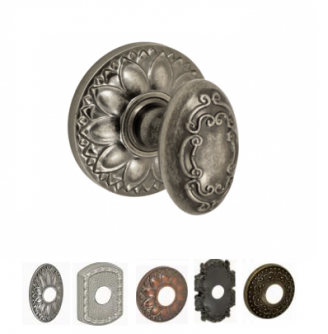 Fusion Bella Villa Collection Scroll Door Knob 34 with choice of Rose