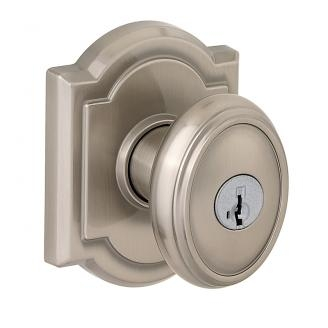 Baldwin Prestige Carnaby Door Knob Set with Arched Rose