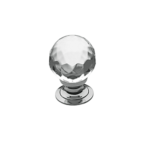 Baldwin Crystal Cabinet Knob (4317, 4318, 4319) shown in Polished Chrome (260)