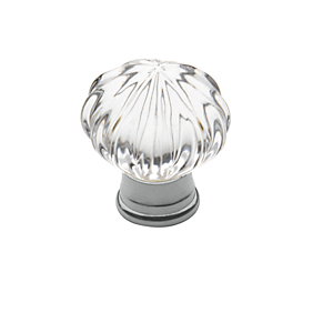 Baldwin Crystal Cabinet Knob (4326, 4327, 4328) shown in Polished Chrome (260)