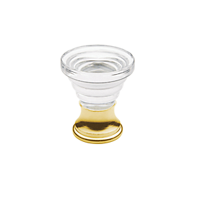 Baldwin Crystal Cone Cabinet Knob (4354, 4355) shown in Polished Brass (030)