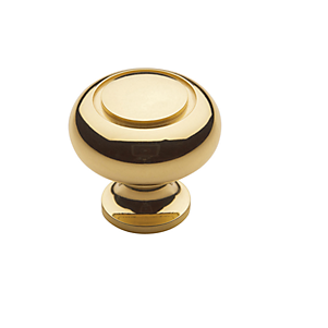 Baldwin Deco Cabinet Knob (4492, 4493, 4494) shown in Polished Brass (030)