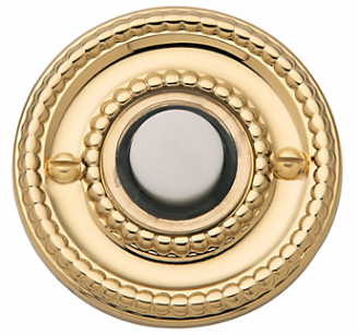 Baldwin 4850 Beaded Bell Button in Polished Brass (030)
