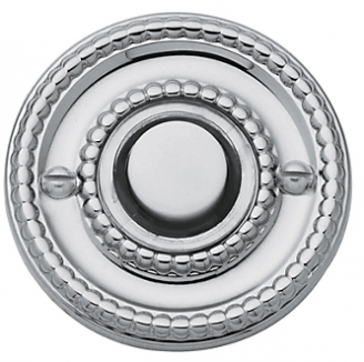 Baldwin 4850 Beaded Bell Button in Polished Chrome (260)