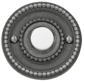 Baldwin 4850 Beaded Bell Button in Distressed Antique Nickel (452)