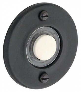 Baldwin 4851 Round Bell Button in Oil Rubbed Bronze (102)
