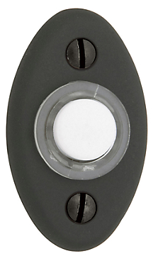 Baldwin 4852 Oval Bell Button in Oil Rubbed Bronze (102)