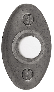 Baldwin 4852 Oval Bell Button in Distressed Antique Nickel (452)