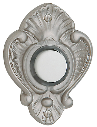 Baldwin 4857 Victorian Bell Button in Satin Nickel (150)