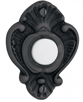 Baldwin 4857 Victorian Bell Button in Satin Black (190)