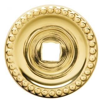 Baldwin 4901 Cabinet Knob Back Plate shown in Polished Brass (030)