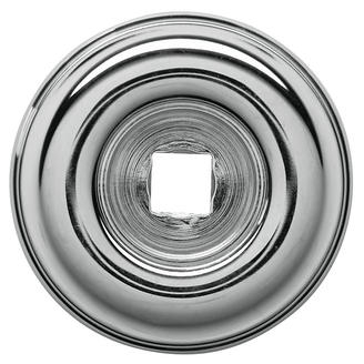 Baldwin 4902 Cabinet Knob Back Plate shown in Polished Chrome (260)