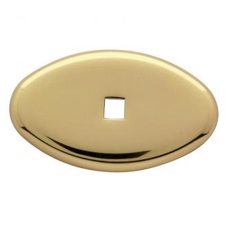 Baldwin 4905 Cabinet Knob Back Plate shown in Polished Brass (030)