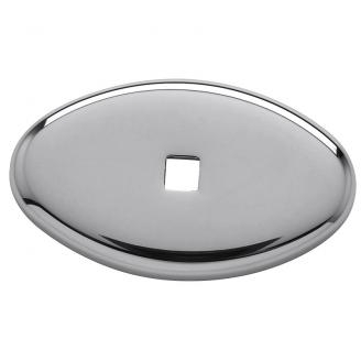 Baldwin 4905 Cabinet Knob Back Plate shown in Polished Chrome (260)