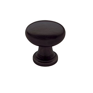 Baldwin Oval Cabinet Knob (4910, 4913, 4939) shown in Venetian Bronze (112)