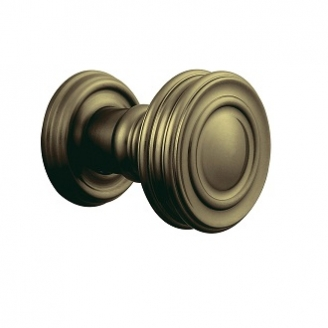 Baldwin Estate 5066 door Knob Set Satin Brass and Black (050)