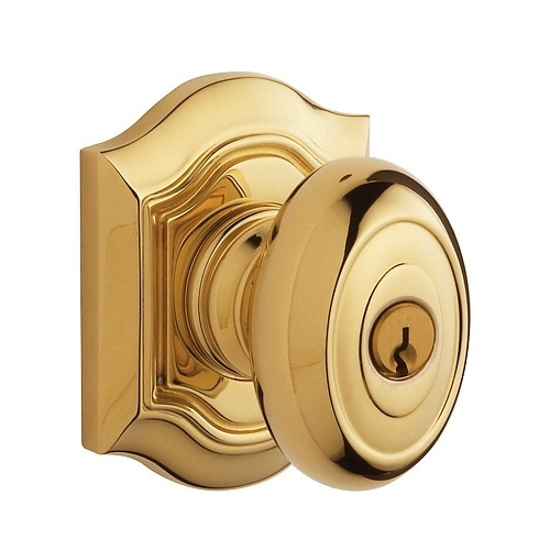 Baldwin 5237.ENTR Bethpage Keyed Entry 003 Lifetime Polished Brass