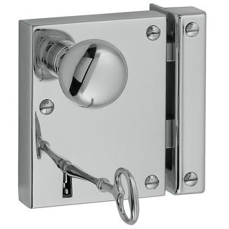 Baldwin 5704 Small Horizontal Rim Lock in Polished Chrome (260)