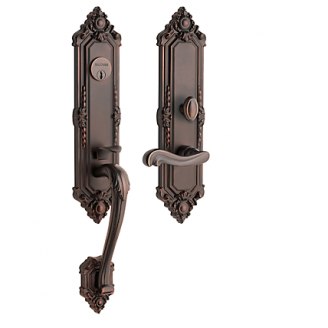 Baldwin Estate 6526 Kensington Mortise Handleset Venetian Bronze (112)